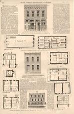 Houses Cheap and Comfortable - Plans of Fire-Proof Houses   - 1875