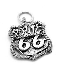 Route 66 Will Rogers Highway Mother road USA Sterling silver .925 Charm Jewelry