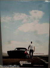 Cinema Poster: FAST & FURIOUS 6 2013 (Vin One Sheet) Vin Diesel Dwayne Johnson