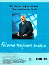 PUBLICITE ADVERTISING 096  1995  Philips  Mr J.D Timmer Président  magnétoscope
