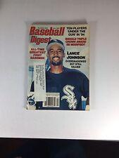 """Baseball Digest Magazine, July 1994, Lance Johnson, """"One Owner"""" Of Magazine"""