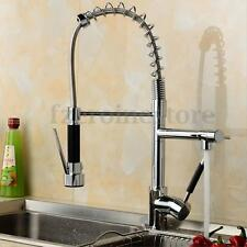 New Pull Out Faucet Kitchen Sink Chrome Flexible Swivel Mixer Tap