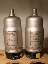 Pair (2) 6J7V PHILIPS TUBE MINIWATT 6J7G 1620 EF37 For 348A WESTERN ELECTRIC