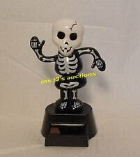 SOLAR POWERED DANCING SKELETON BLACK/WHITE Halloween Decoration Never Batteries