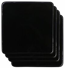 Burner Black Square Covers Home Stove Gas Kitchen Top Decorative 4-9in Set Of 4