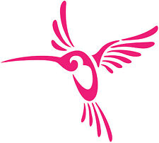 A cool humming bird sticker, pink or many colors to choose from 5.25 x 5.85 in.
