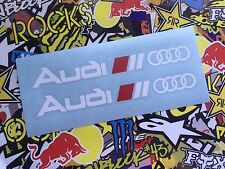 VINILO ADHESIVO PEGATINA AUDI SPORT X2 CAR STICKER DECAL TUNNIG WHITE