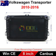 "8"" Car DVD GPS Navigation Head Unit Stereo Radio For VW Transporter 2010-2016"