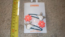 NEW set of 4 clips hair barrettes set 2015 Deer with Flowers Gymboree NWT cute