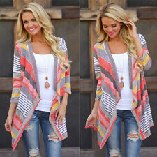 Women Long Sleeve Waterfall Knitted Cardigan Sweater Outwear Jacket Coat Sweater