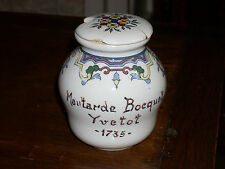 POT A MOUTARDE BOCQUET YVETOT 1735 DIGOIN SARREGUEMINES FRANCE