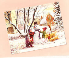 Golden Retriever Puppy Snowman Christmas Cards by Lang Box of 18 Frosty