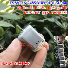 DC 3V 6V 12V High Speed Magnetic Carbon Brush Mini 280 DC Motor RC Toy Car Model