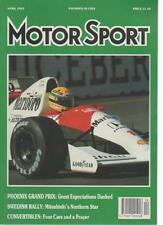 MOTOR SPORT  MAGAZINE  APRIL 1991  PHOENIX GRAND PRIX   LS