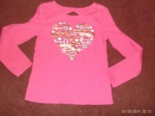 justice --  girls size 12  deep pink -- 3D key heart print top----nwt