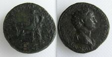 Collectable Roman Bronze Sestertius Coin Of Trajan - Fortuna Seated Left