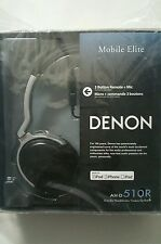 "Denon AH-D510R ""Mobile Elite"" Ocer-Ear Headphones with 3-Button Remote + Mic​"