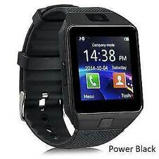 POWER BLACK DZ09 SMARTWATCH SIM N MEMORY SLOT BLUETOOTH ANDROID CHEAPEST