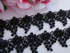 Good quality,Black color, lovely Venise lace trim  - price for 1 yard