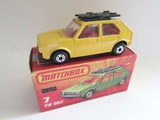 Matchbox Superfast 7c VW Golf - Yellow - Black Base - Mint/Boxed