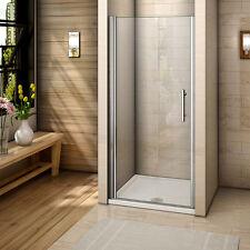 Aica 760mm Frameless Pivot shower door enclosure walk in 6mm glass screen
