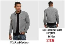 Levi's Mens French Terry Trucker Jacket Gray Heather Size Large ,Style 160970000