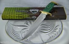 Timber Rattler Jungle Fury Heavy Combat Hunter Bowie Knife Green Handle TR116