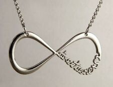 Pendant necklace One direction infinity steel silver + chain