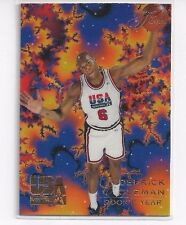 RARE 1994 FLAIR USA U.S.A. BASKETBALL DERRICK COLEMAN #16 - ERROR CARD