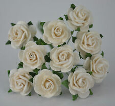 50  OFF WHITE ROSE (1.5cm) Mulberry Paper for weddings crafts cardmaking
