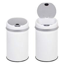 Sensor Automático cubo de basura residuos Manos Libres Touchless De 50 Litros Blanco Cocina