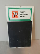 VINTAGE 7-UP ADVERTING MENU BOARD- VINTAGE ADVERTISING SIGN- DRIVE-IN- DINER