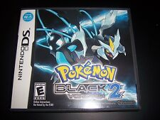 Replacement Case (NO GAME) Pokemon Black Version 2 Nintendo DS NDS-Original Box