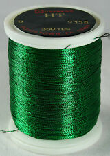 1 Oz Spool Gudebrod GREEN #9358 HT Metallic Rod Building Thread Size A or D