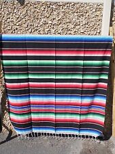 SERAPE XXL, 5'X7' Mexican blanket, HOT ROD, Seat covers, MOTORCYCLE, BLACK MIX