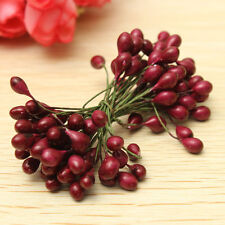 100Pcs Artificial Red Holly Berry Berries 8mm Home Garland Christmas Decoration