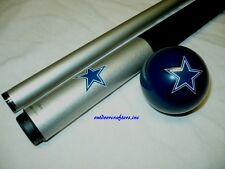 NFL Dallas COWBOYS Billiard Pool Cue Stick & Team Logo Cue Ball Combo ~ NEW !