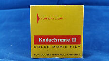 Vintage Kodachrome II 25ft Double 8mm Daylight Color Movie Film Expired Mar 1969