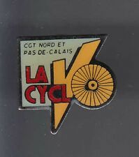 RARE PINS PIN'S .. POLITIQUE SYNDICAT LABOR CGT 59 62 VELO CYCLISME CYCLING ~AT