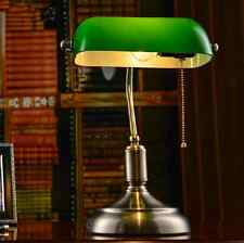 Antique Library Table Lamp Bedside Desk Light Home Shade Lighting Glass Bedroom