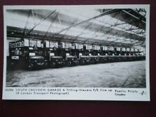 POSTCARD SOUTH CROYDON GARAGE - TILLING-STEVENS P/E/ LINE UP