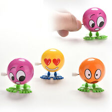 2X Wind up Face Multicolored Funny Cartoon Somersault Running Clockwork Toy Hot