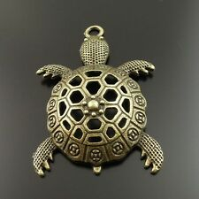 10pcs Antique Bronze Vintage Alloy Hollow Tortoise Pendant Charms 35611