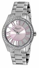 Ladies Kenneth Cole Watch with Transparent Dial and Pink Details KC4982