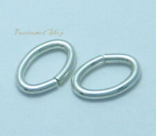 925 Sterling Silver 6.5 x 9.5mm 16Ga. 6 pcs. Oval Jump Ring -Open New Thick