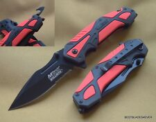 MTECH SPRING ASSISTED TACTICAL RESCUE KNIFE WITH POCKET CLIP - 4.75 INCH CLOSED