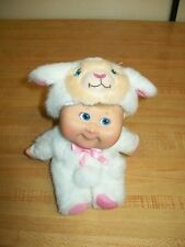 """2008 7"""" CPK Cabbage Patch Kids  DOLL IN LAMB COSTUME W/ PULL DOWN HOOD SHEEP"""