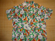 Vintage 1960s South Pacific Native Pots Surf Rayon Hawaiian Aloha Shirt L
