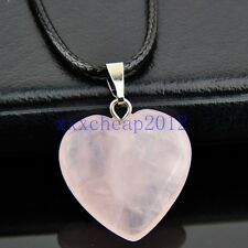 fashion heart-shaped Rose Quartz pendant necklace XL520