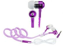 Kopfhörer Headset Headphones In Ear Lila für MP3 Player Smartphone Tablet